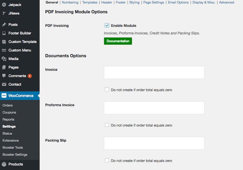 PDF Invoicing