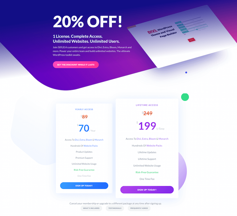 Special 20 Off Discount Join Elegant Themes