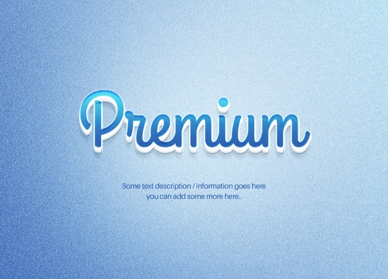 premium blue text effect