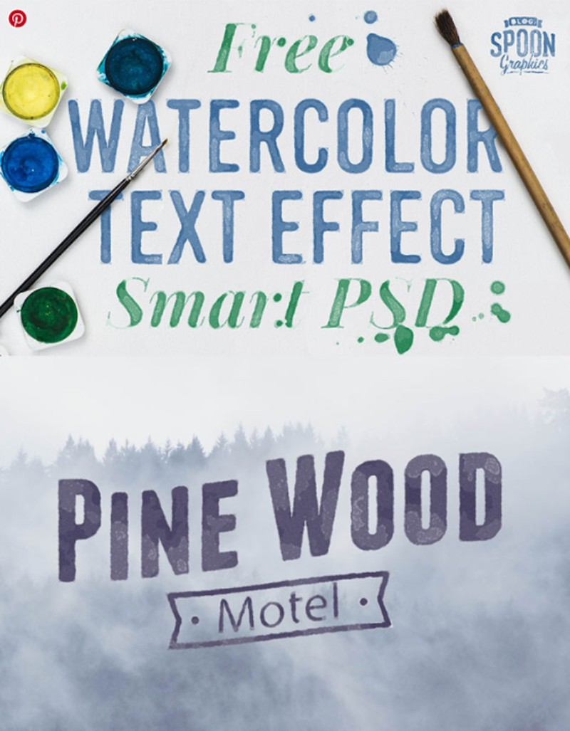 Watercolor Text Effect