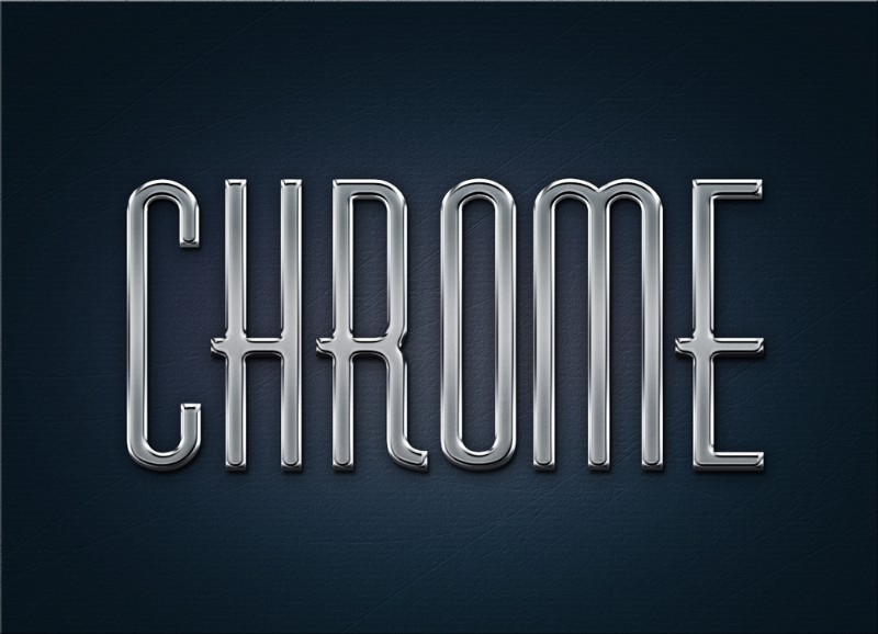 Chrome Metal Text Effect