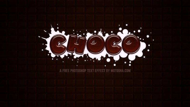 Photoshop Chocolate Text Styles