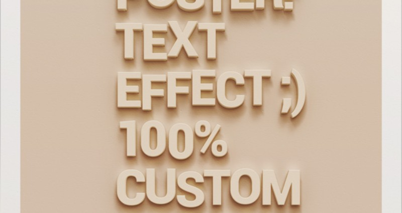 PSD poster Wall Text Effect