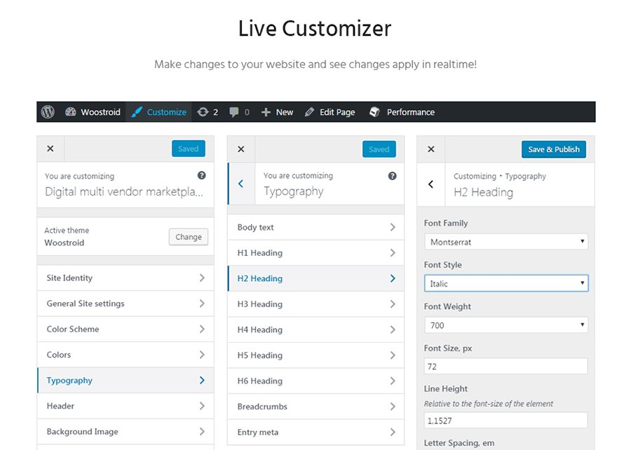 WooStroid Live Customizer