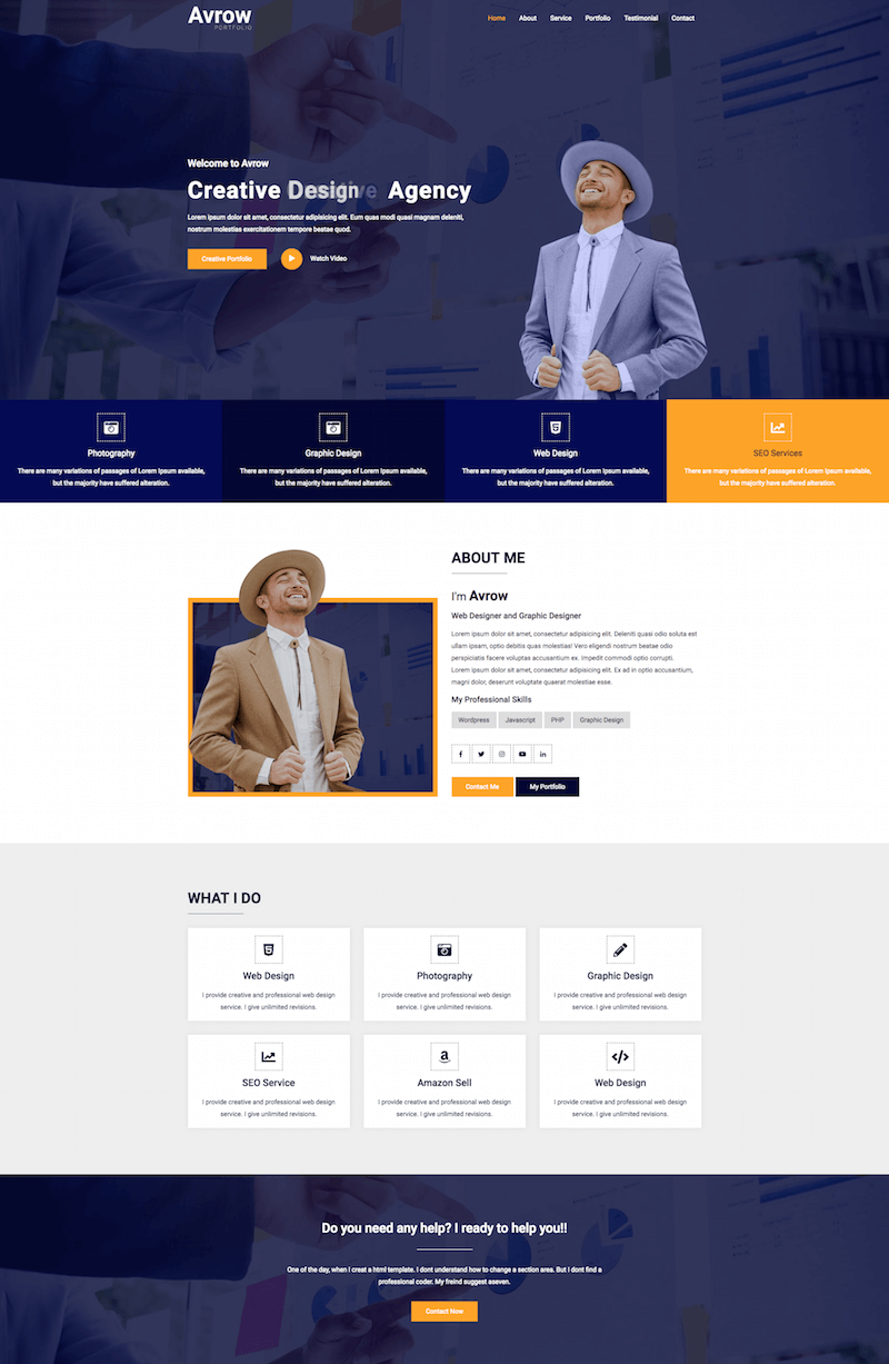 Avrow-HTML5-Template