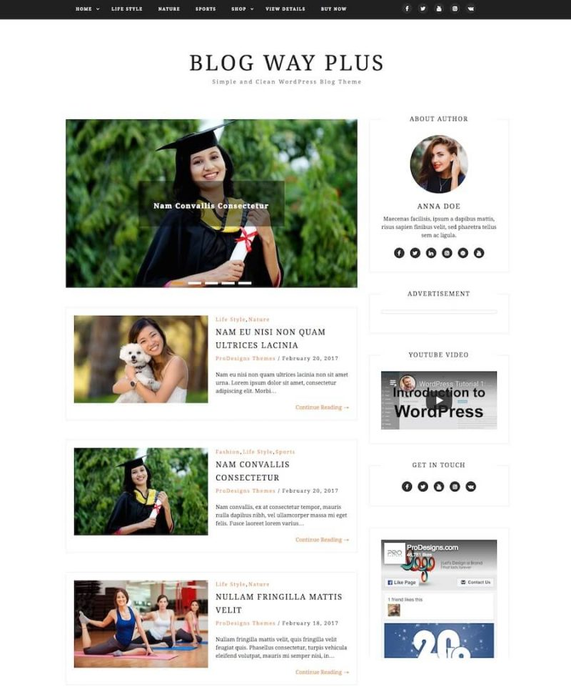 Blog Way WordPress Theme