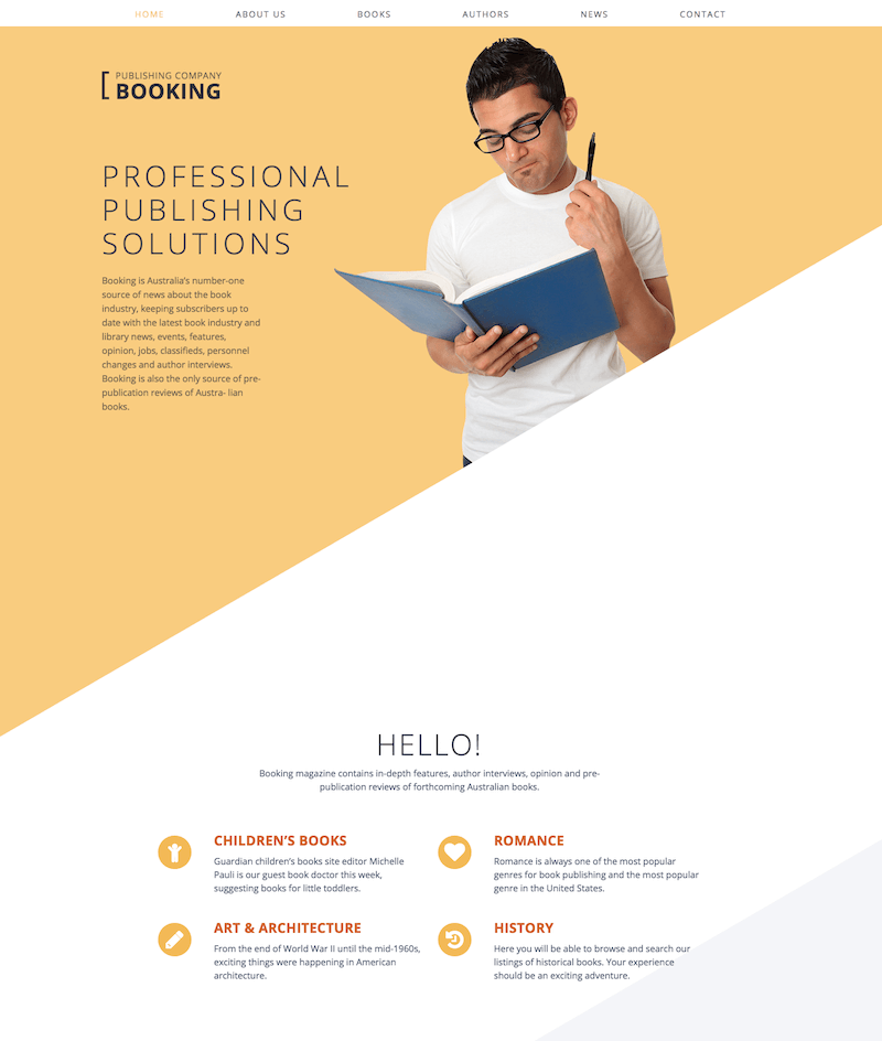Book Publishing Website Template