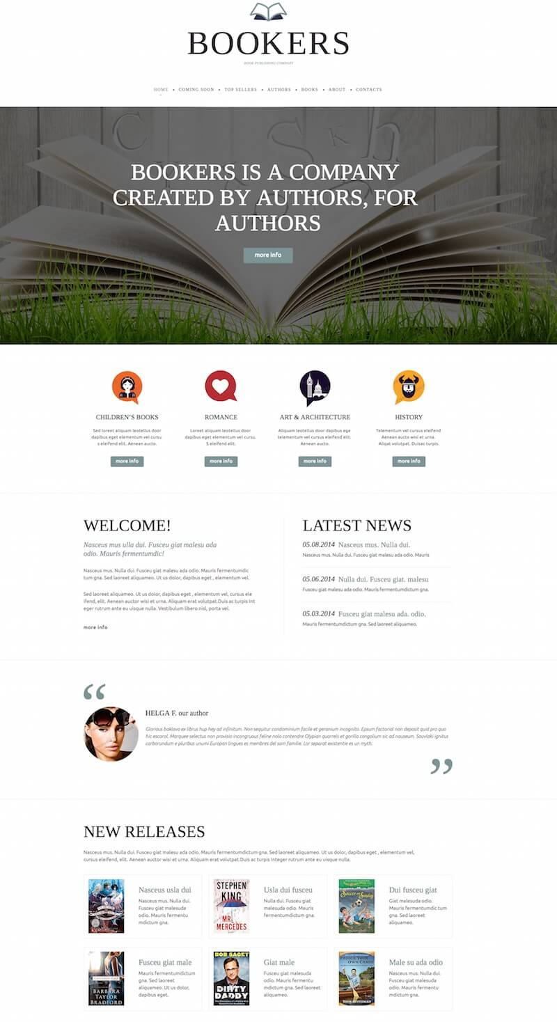 Bookers Website Template