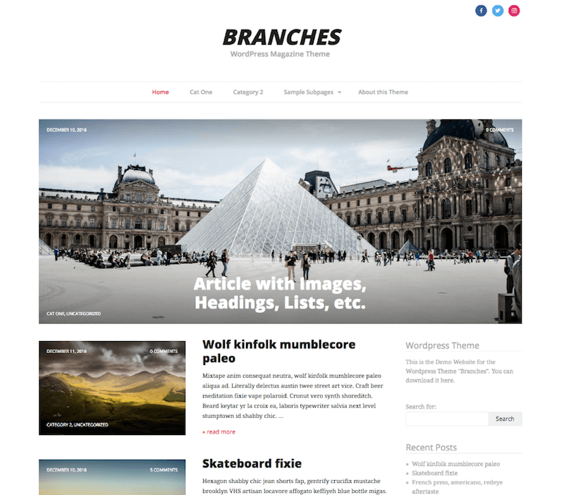 Branches Theme