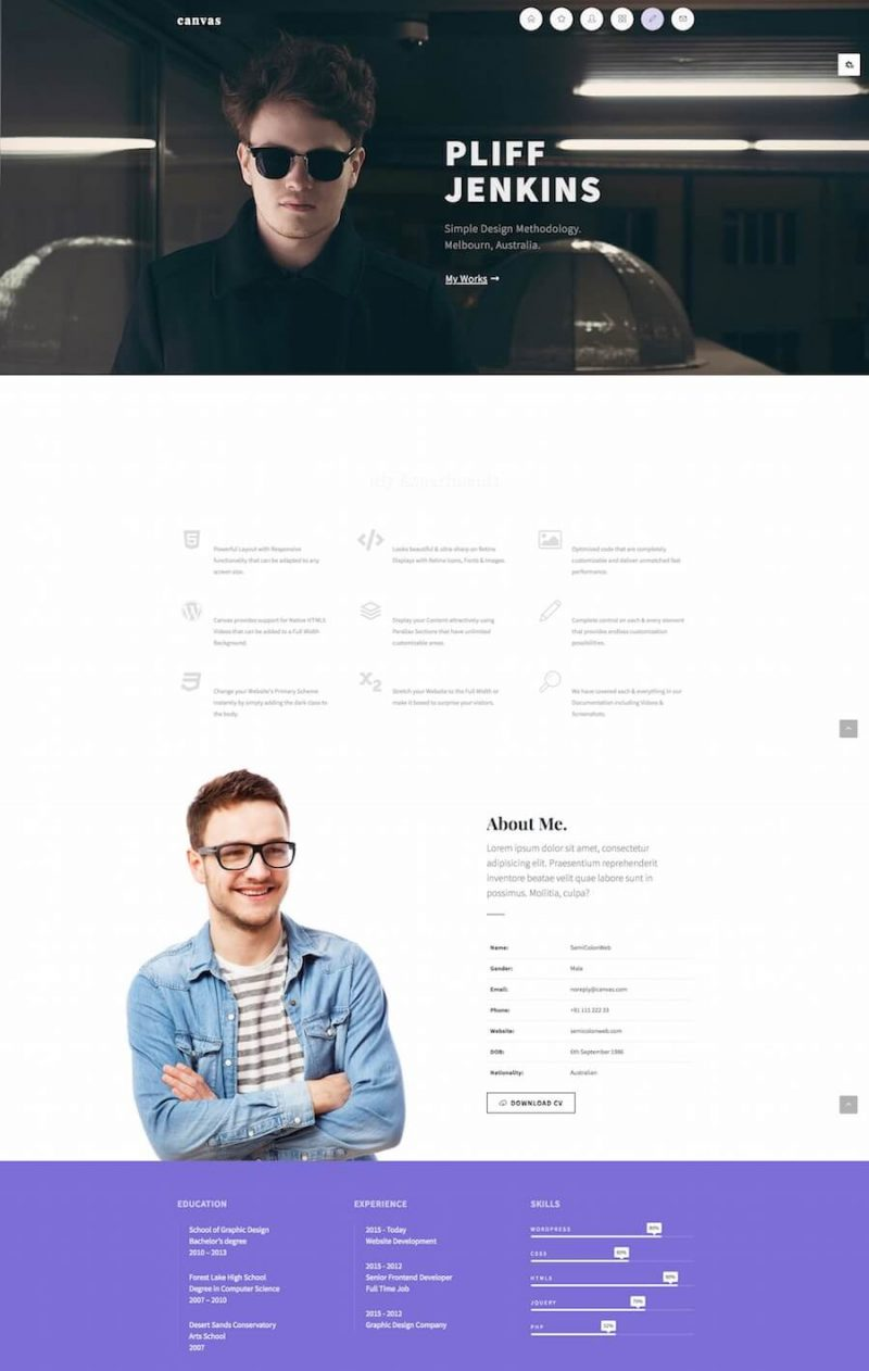 Canvas HTML Template