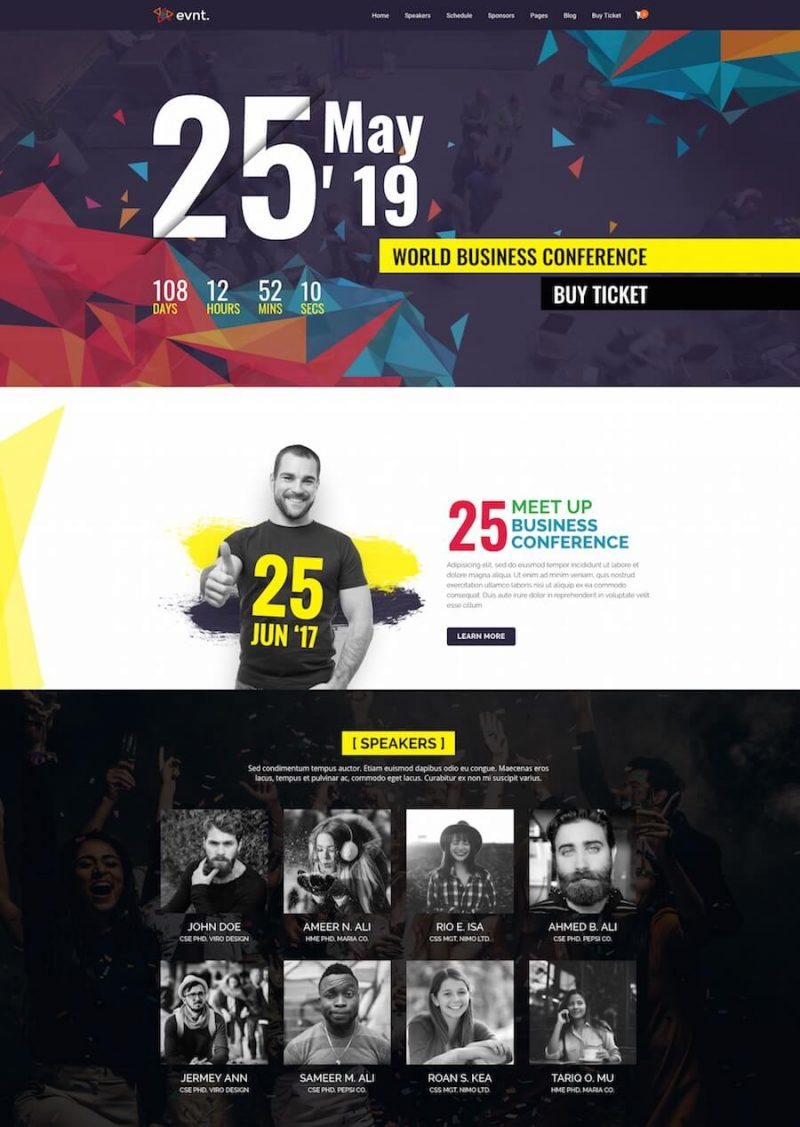 Evont Top Event WordPress Theme