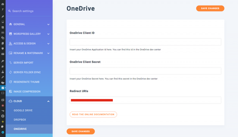 Integrate OneDrive With WP Media Folder