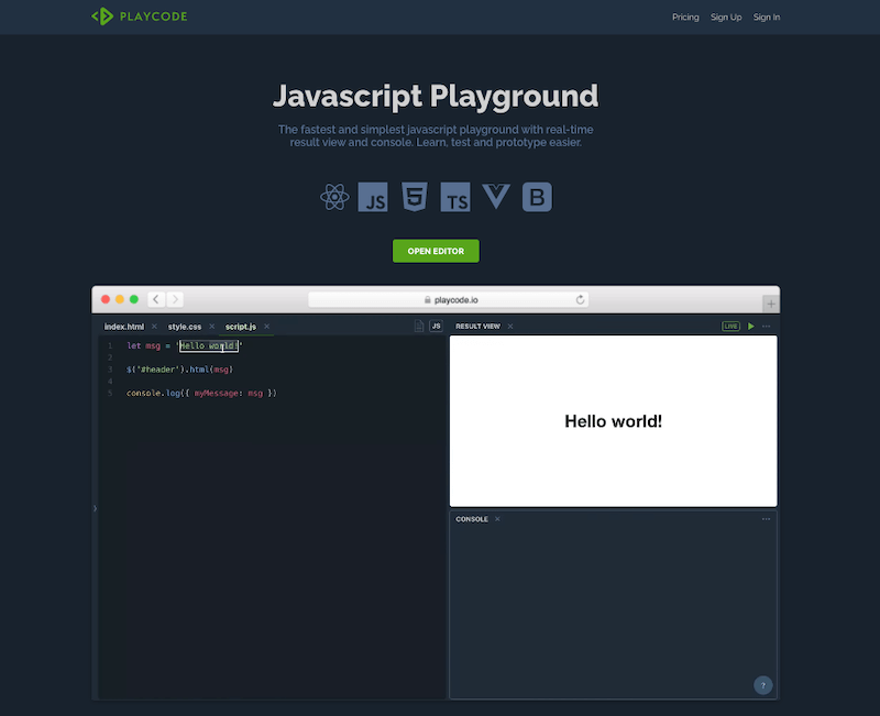 Playcode Editor