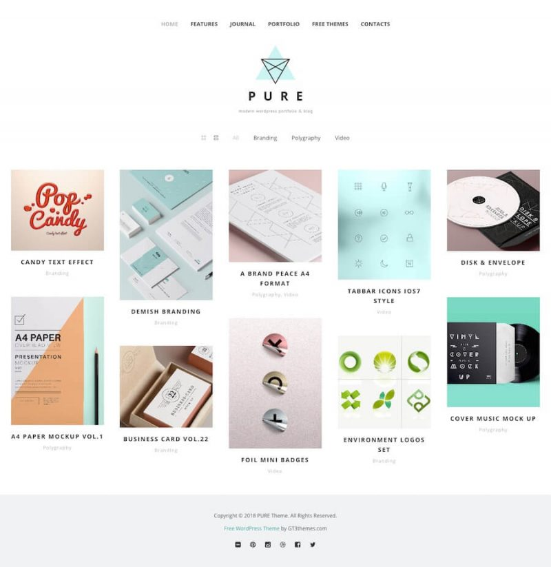 Pure Minimal WordPress Theme