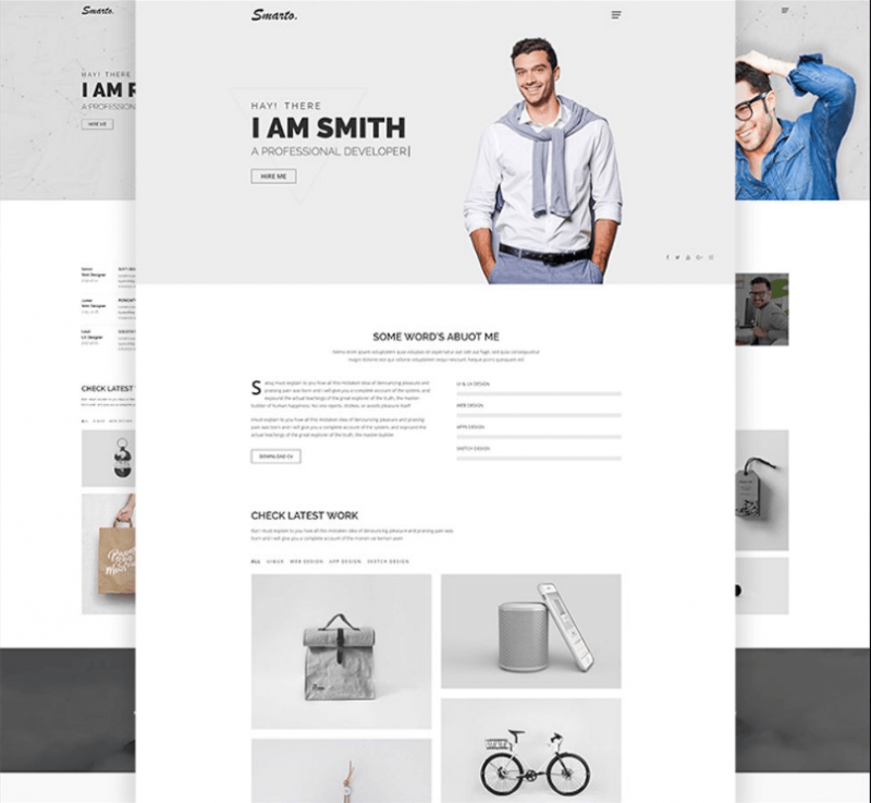 Smarto Creative Portfolio Website Template