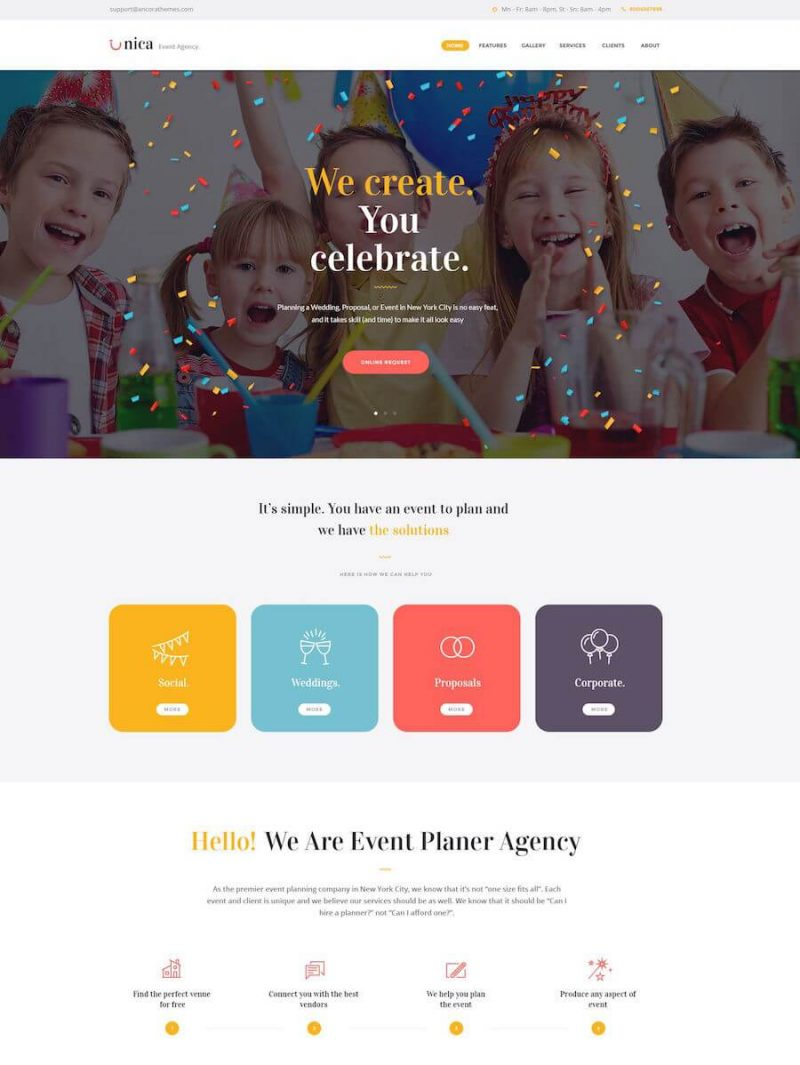 Unica Event WordPress Theme
