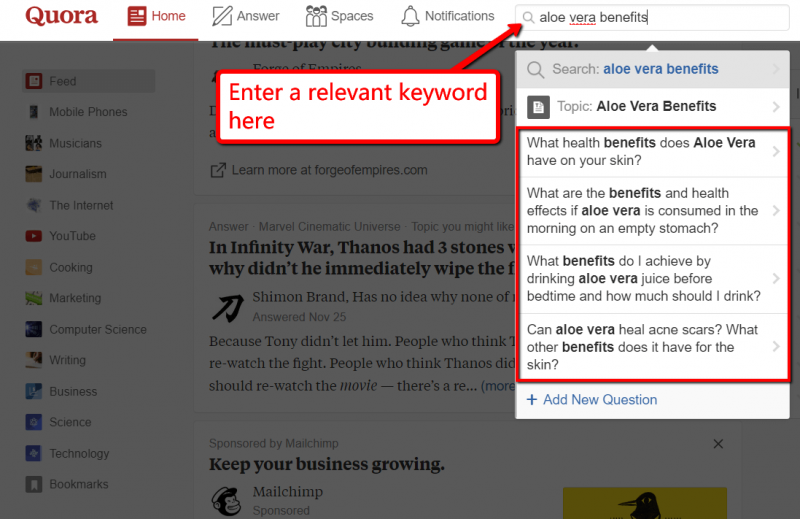 Using Quora for eCommerce