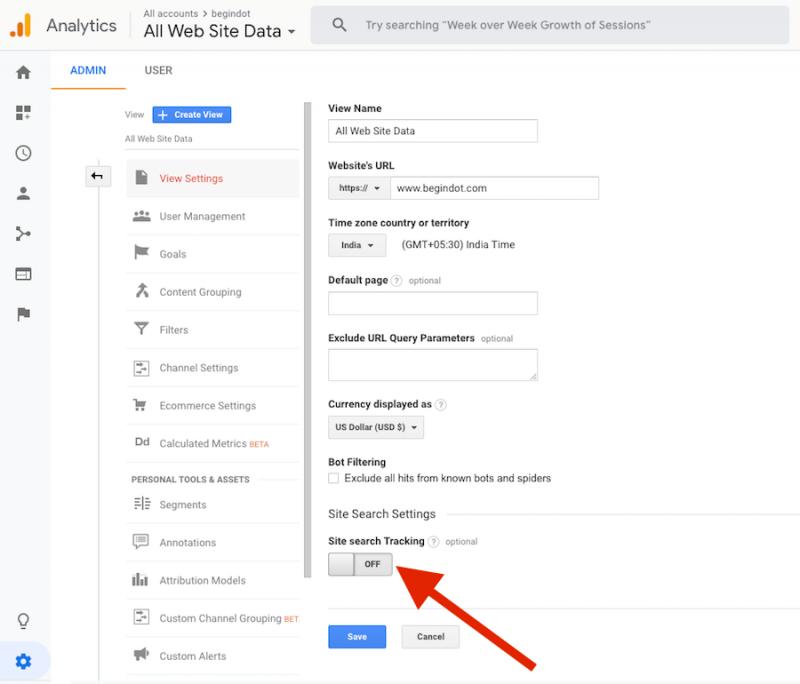 WordPress Site Search Settings