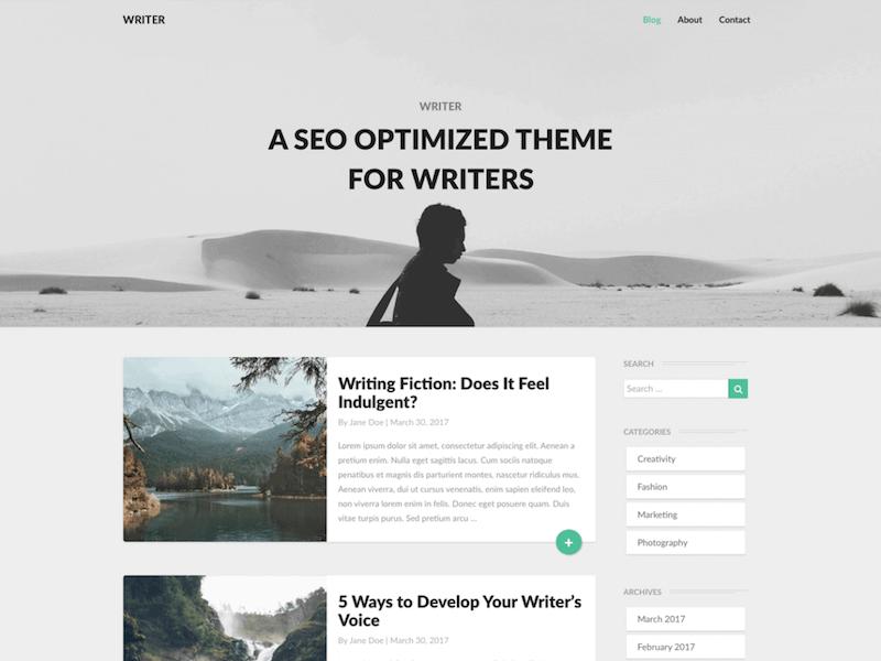 Writers Free WordPress Theme