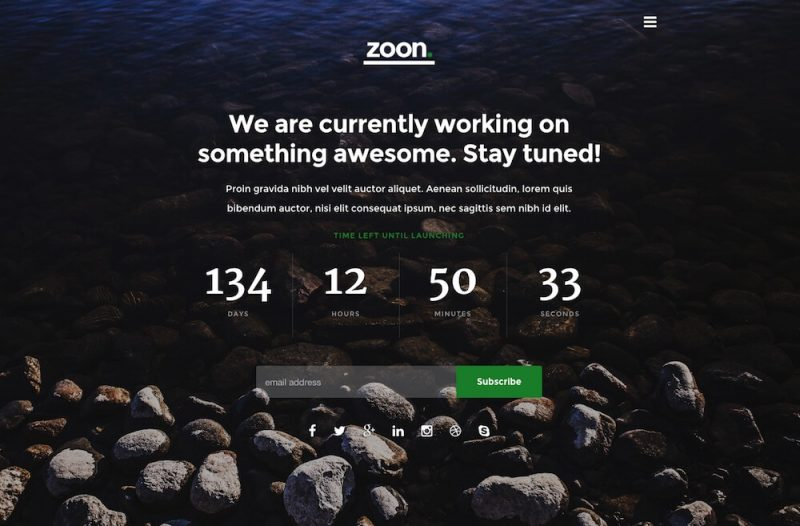 Zoon Coming Soon Template