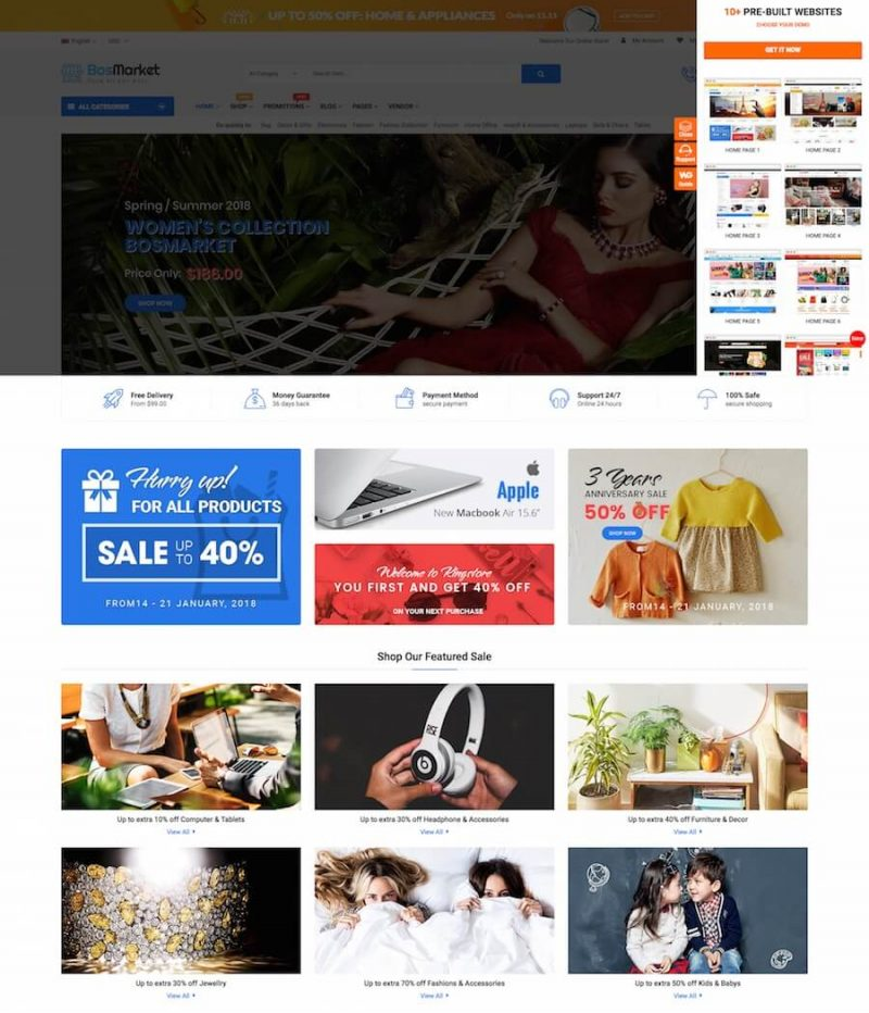 BosMarket Marketplace Theme