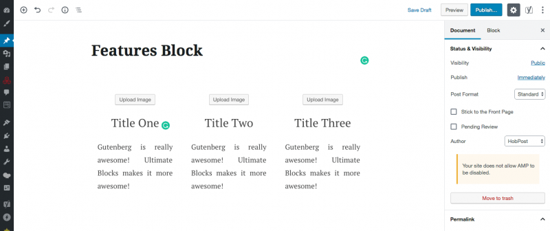 Features Block