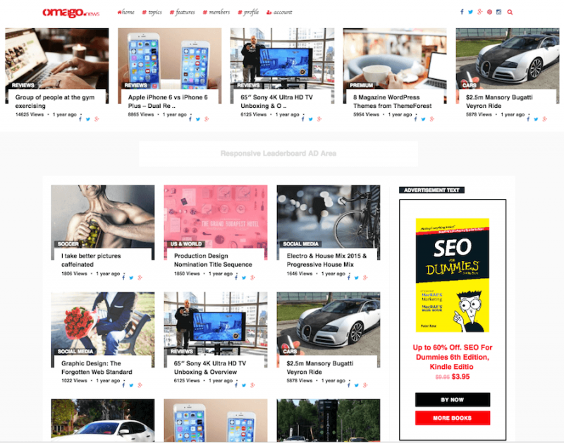 Omago News WordPress Theme