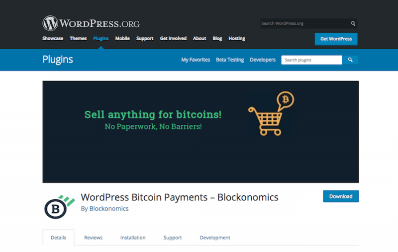 WordPress Bitcoin Payment