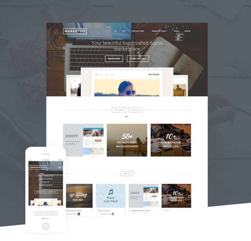 marketify theme