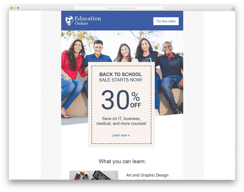 Back to School Email Template