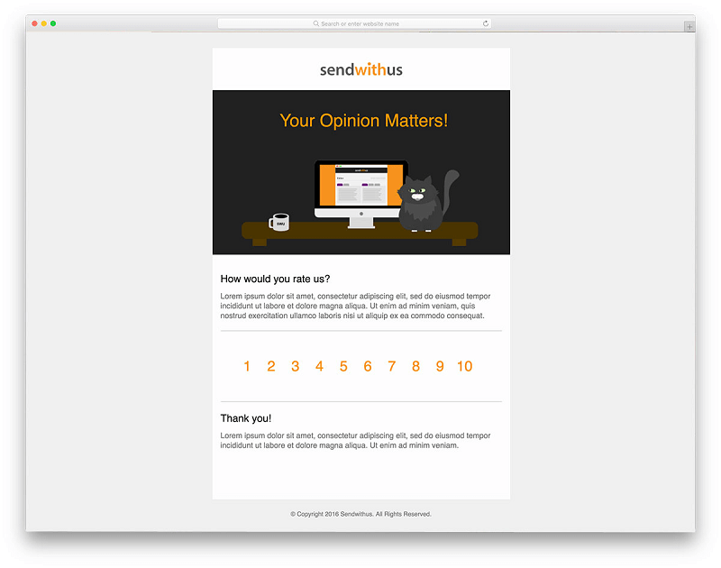 Meow Survey Email Templates