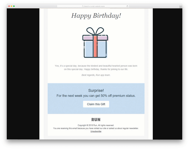 Surprise Offer Email Template