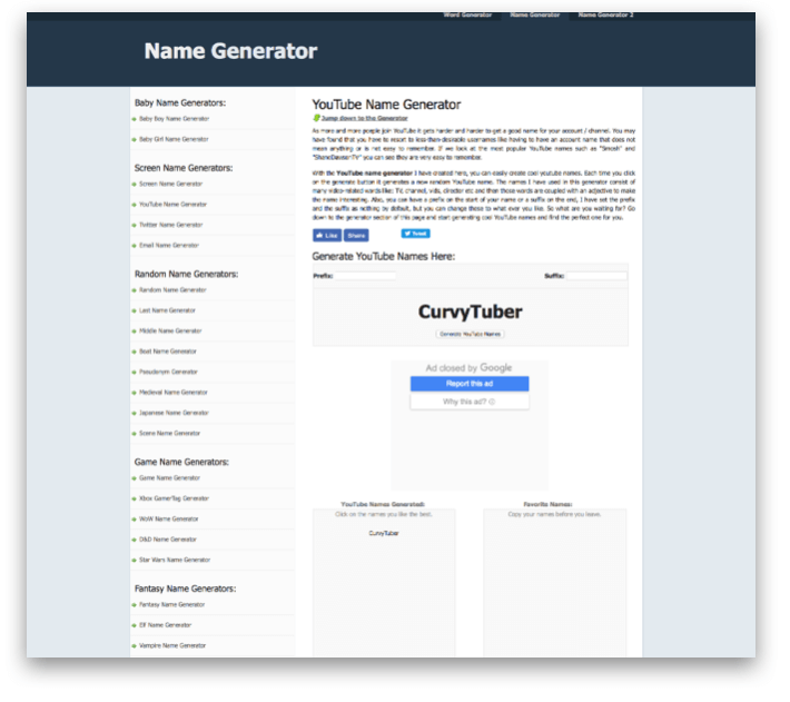 15 Best YouTube Channel Name Generators for YouTube Vloggers