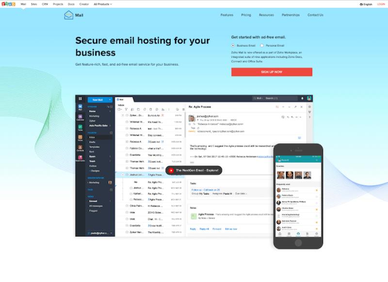 Zoho Free Mail