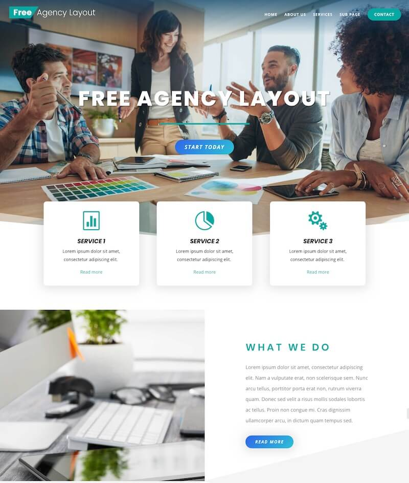 Free Divi Agency Layout Pack