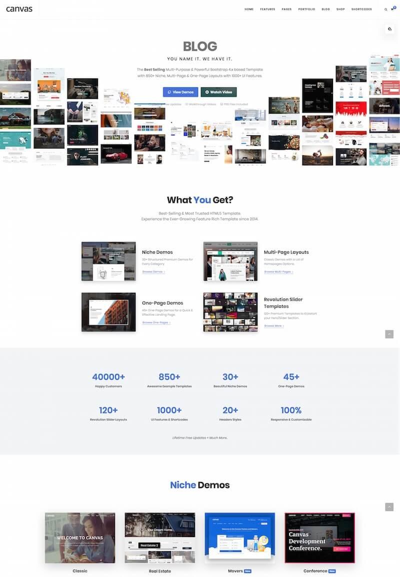 Canvas Multi-Purpose HTML5 Template