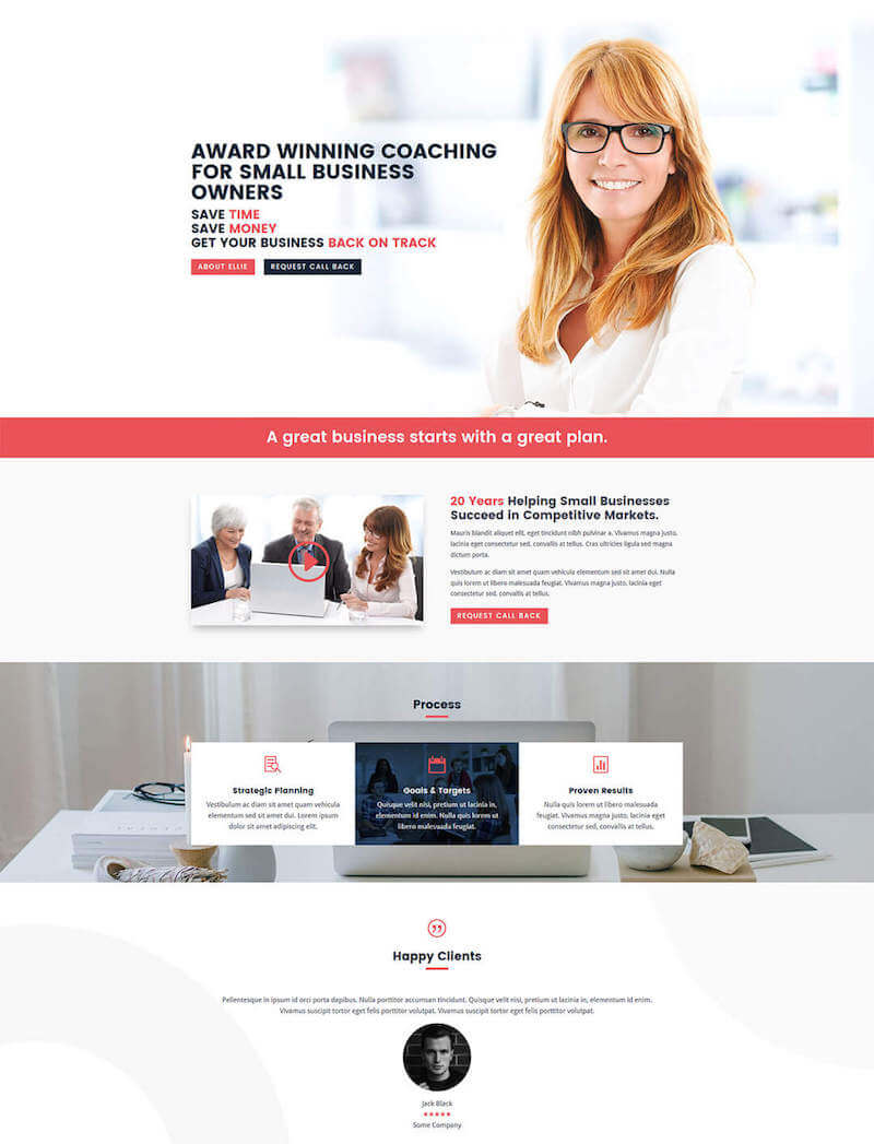 Coaching & Consulting Free Divi Layout