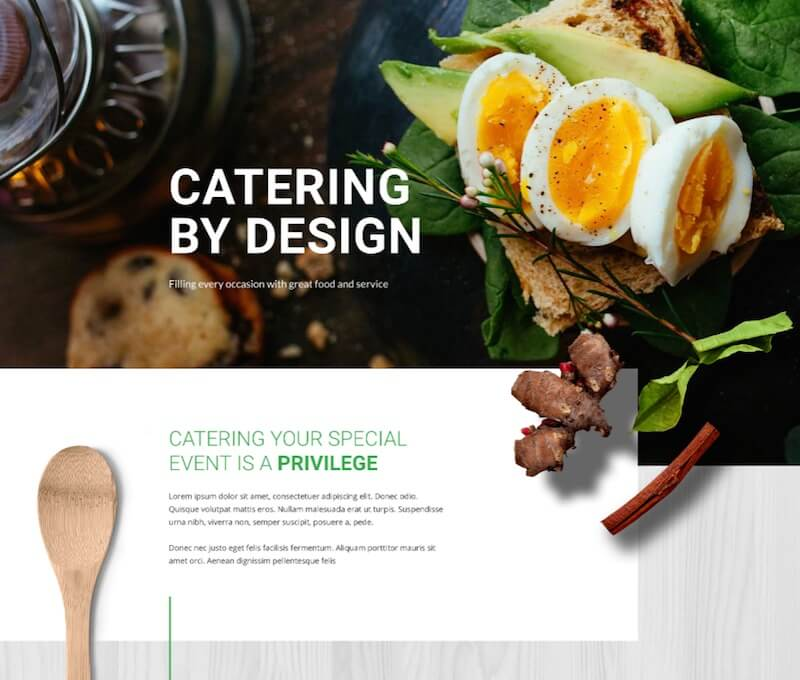 Free Catering Divi Layout