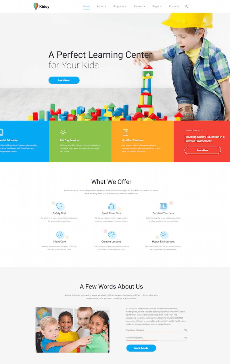 Kidsy School Website Template