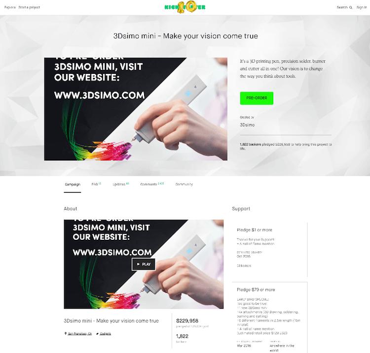 3DSimo Crowdfunding