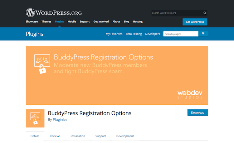 BuddyPress Registration Options