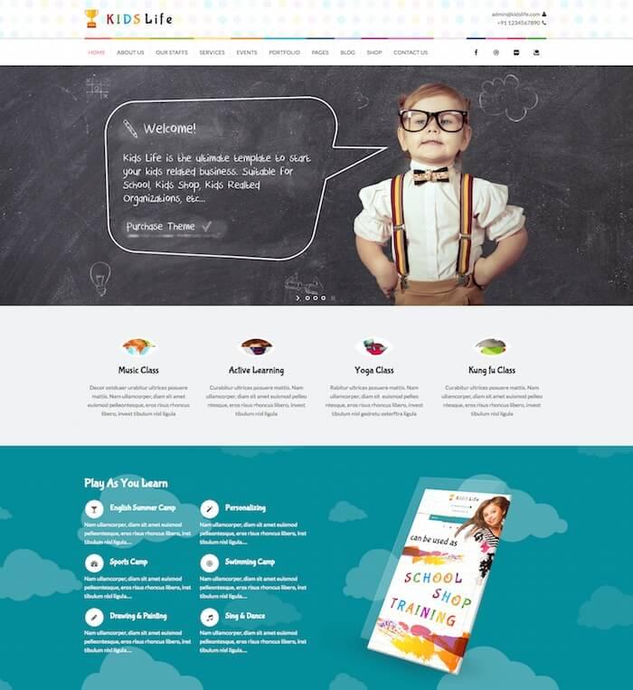 Kids life children theme for kindergarten