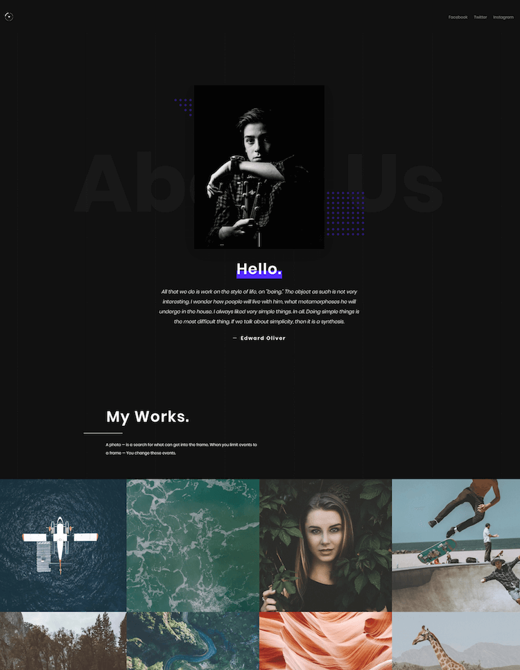Oliver HTML Template