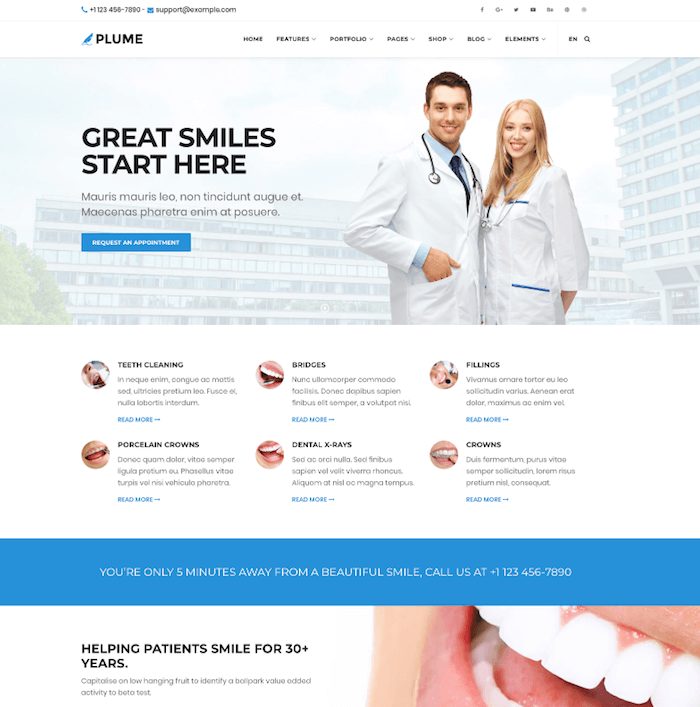 PLUME HTML5 TEMPLATE