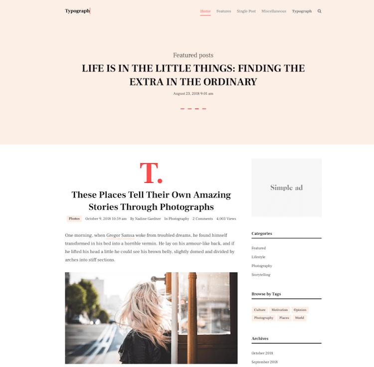 typograph theme