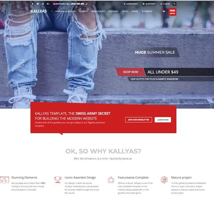 Kallyas HTML template