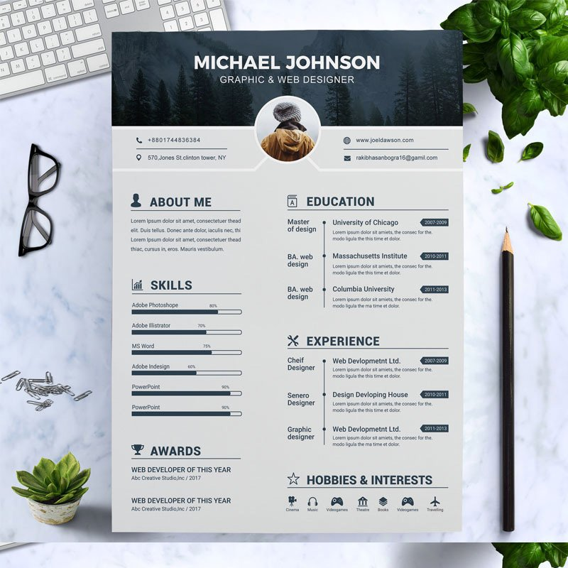 Johnson Graphic Designer Resume Template