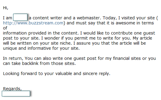 Guest Posting Pitch