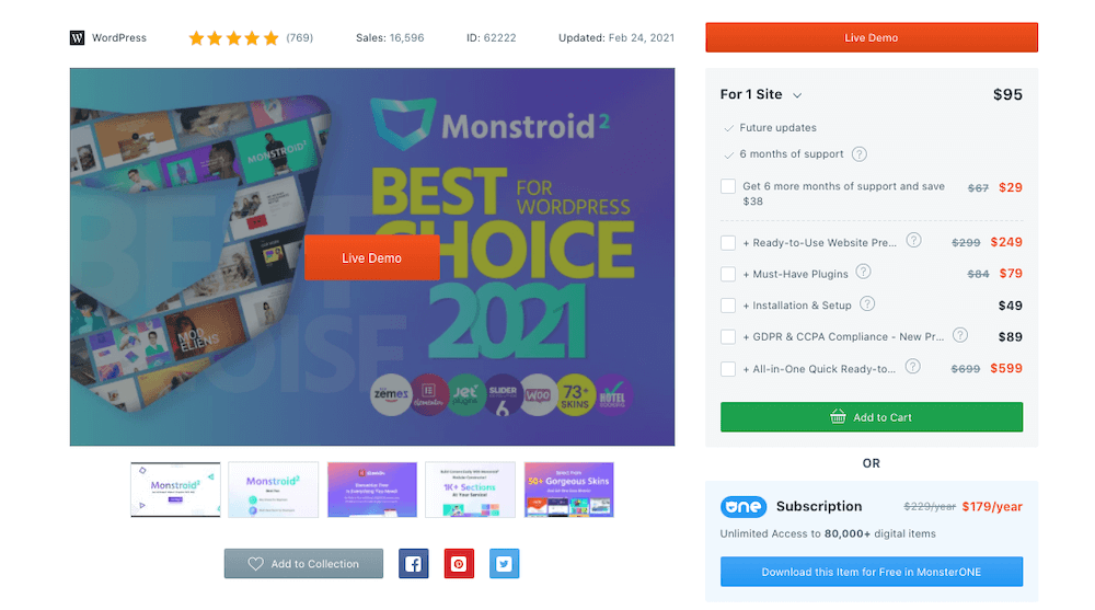 Monstroid2 Pricing