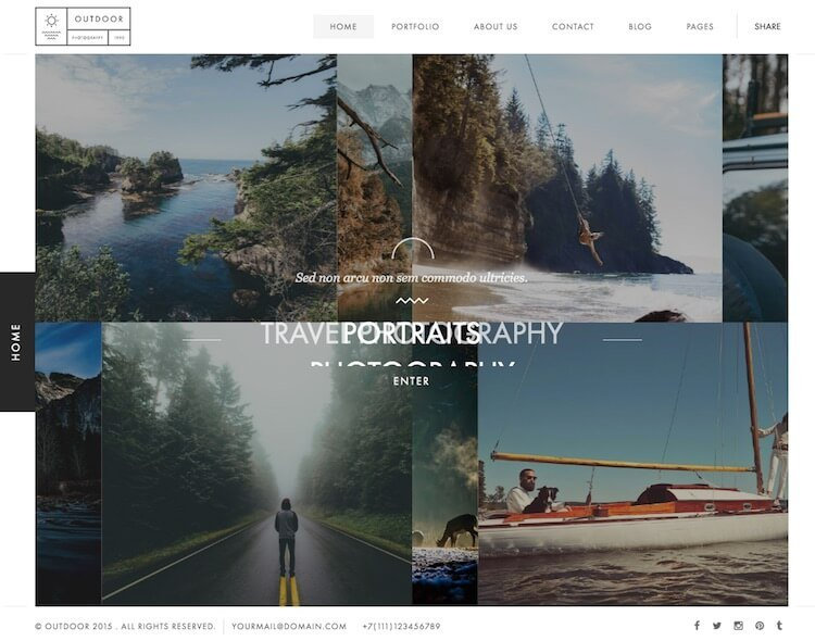 Outdoor HTML Template
